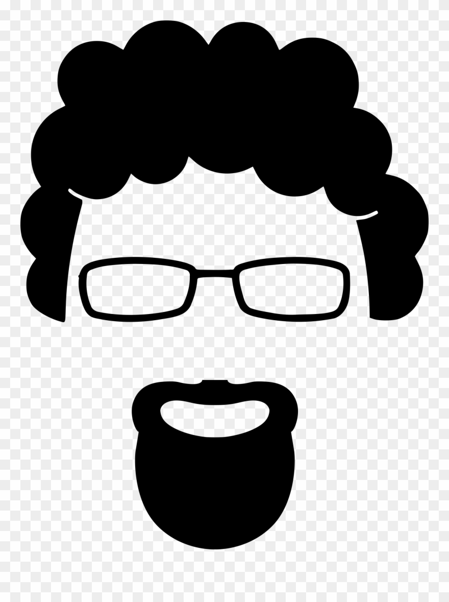 banner free library Big cliparts silhouette png. Beard clipart goatee.