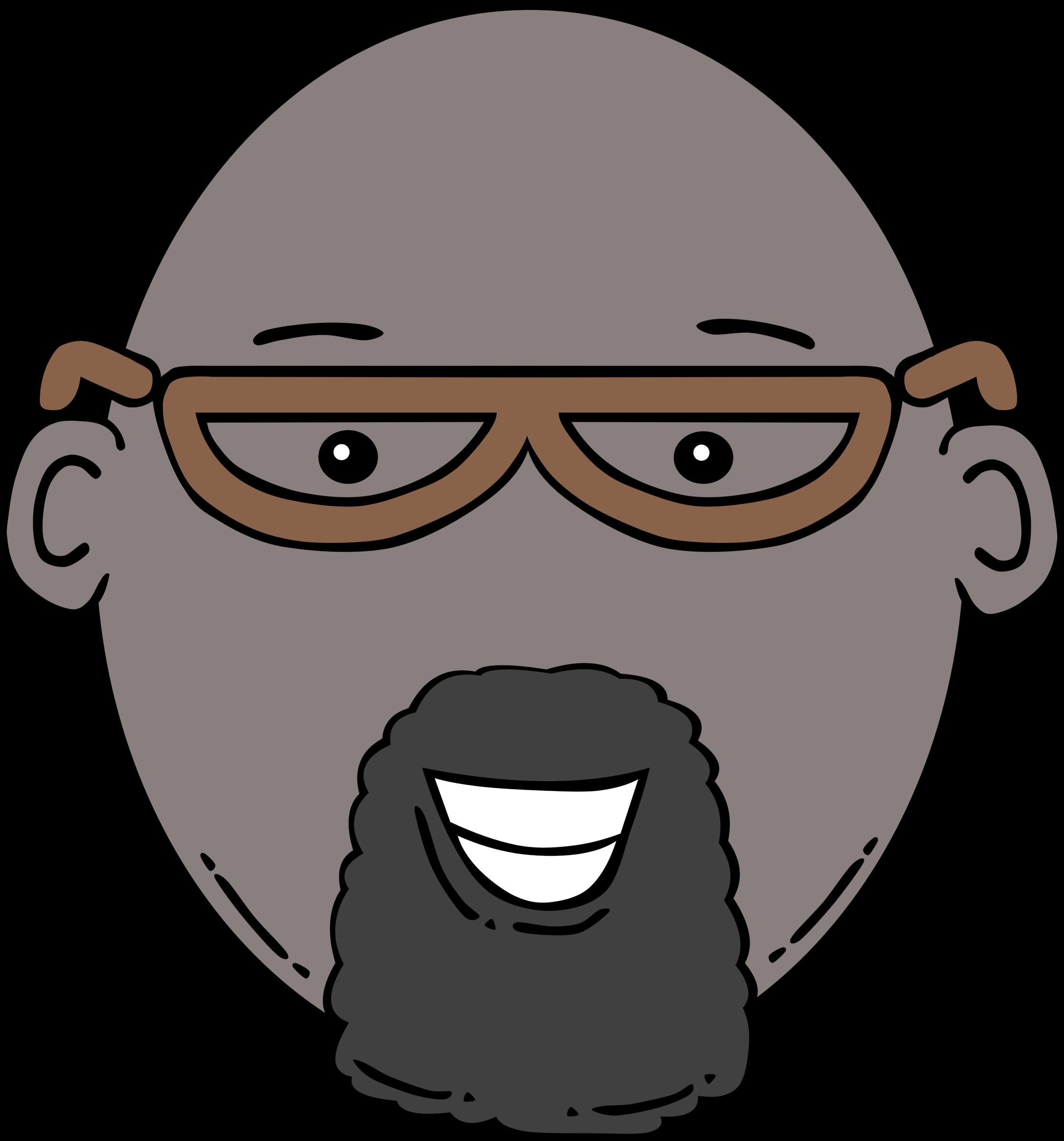 image transparent library Beard clipart goatee. Man face cartoon big