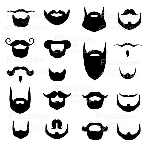 banner freeuse library Moustache . Beard clipart goatee.