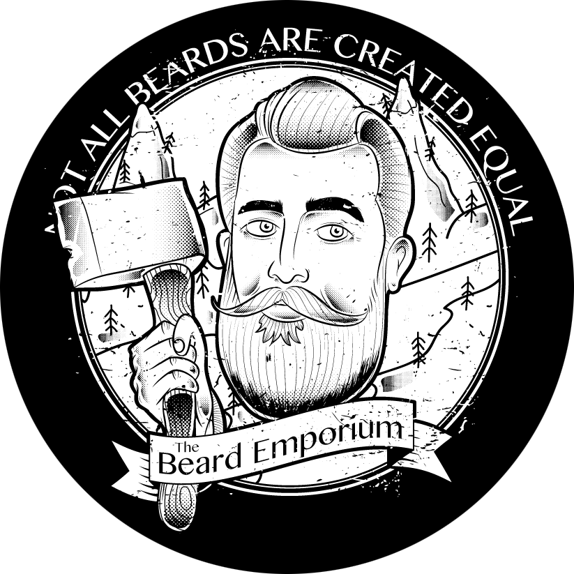 banner royalty free stock Beard clipart gray. About the emporium strongman