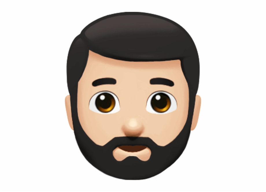 vector transparent library Beard clipart guy. Man with emoji free
