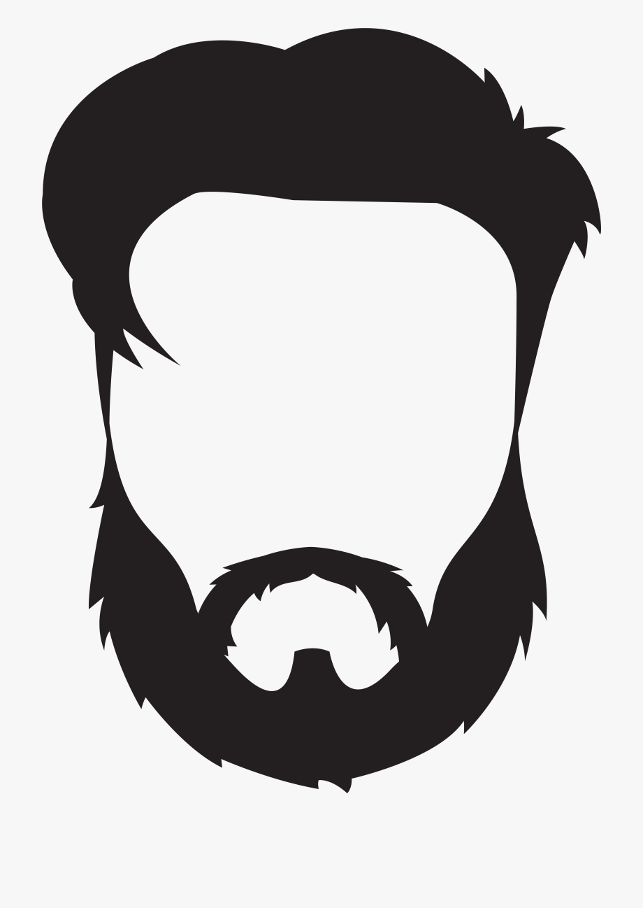 vector free download Man hair mustache png. Beard clipart guy