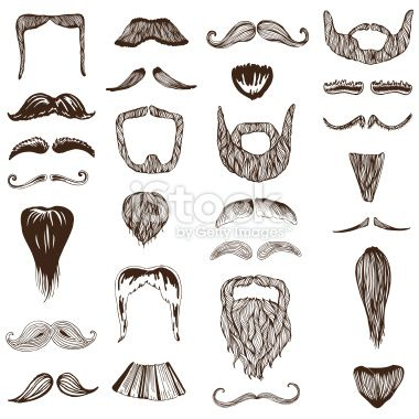 image transparent stock Set of moustache mustache. Beard clipart hand drawn