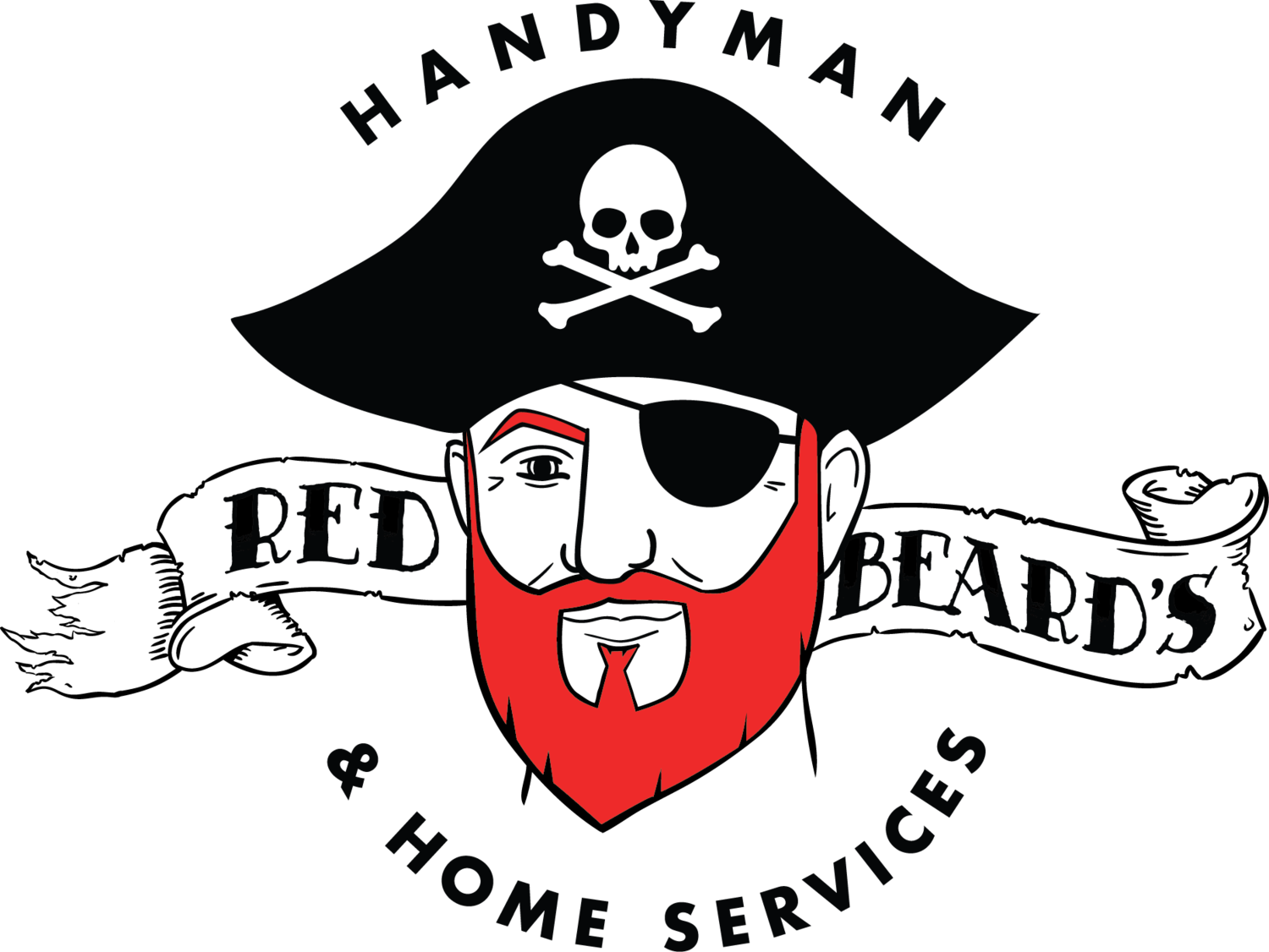 banner free Beard clipart hand drawn. Red s