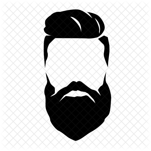 jpg library stock Beard clipart hipster haircut. Men style icon beauty