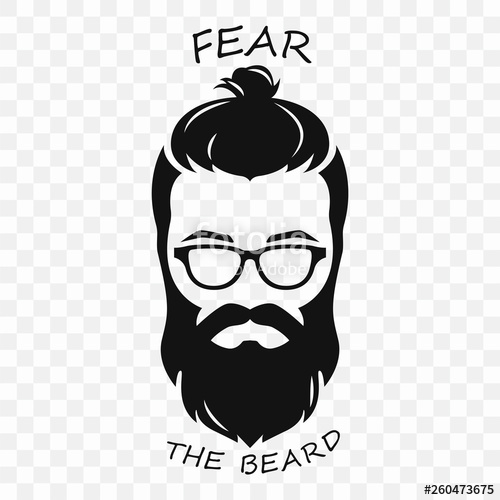 picture royalty free Beard clipart hipster haircut. Silhouette of a bearded
