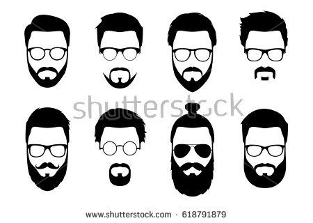 svg black and white download Pin on h . Beard clipart hipster haircut