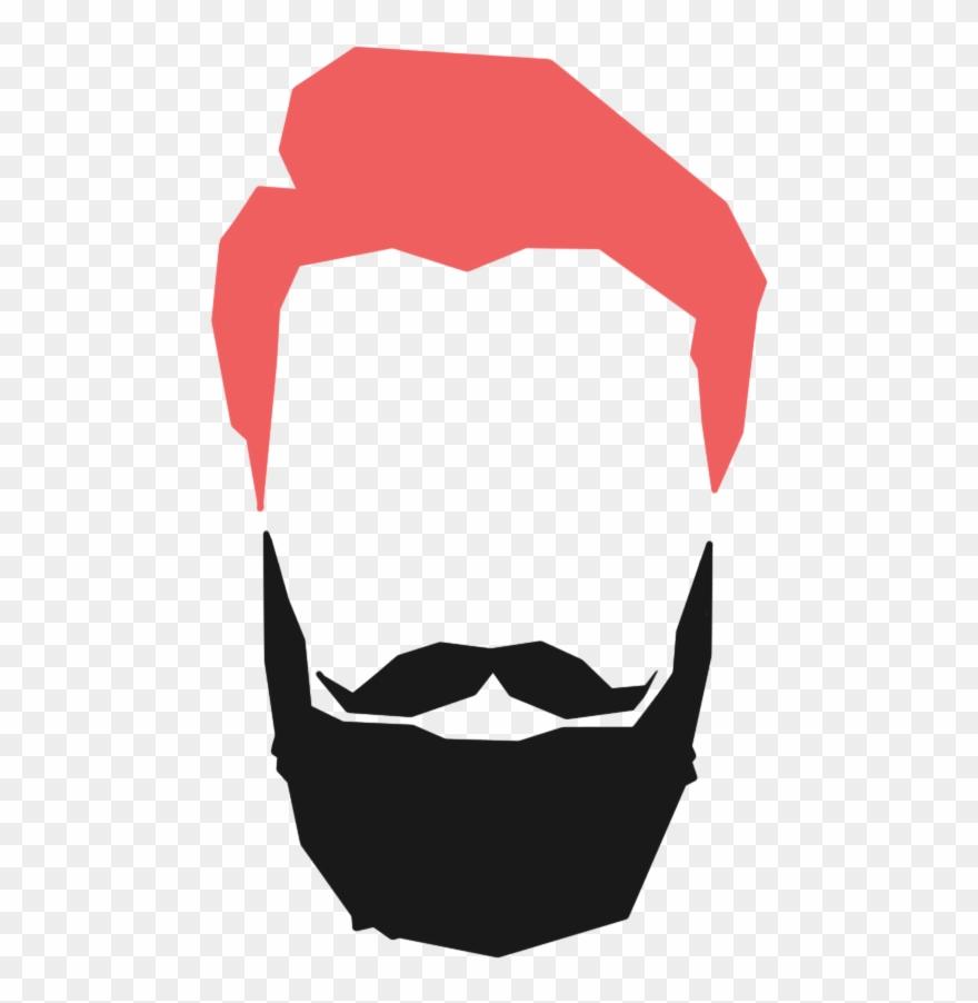 banner Hair cut logo png. Beard clipart hipster haircut