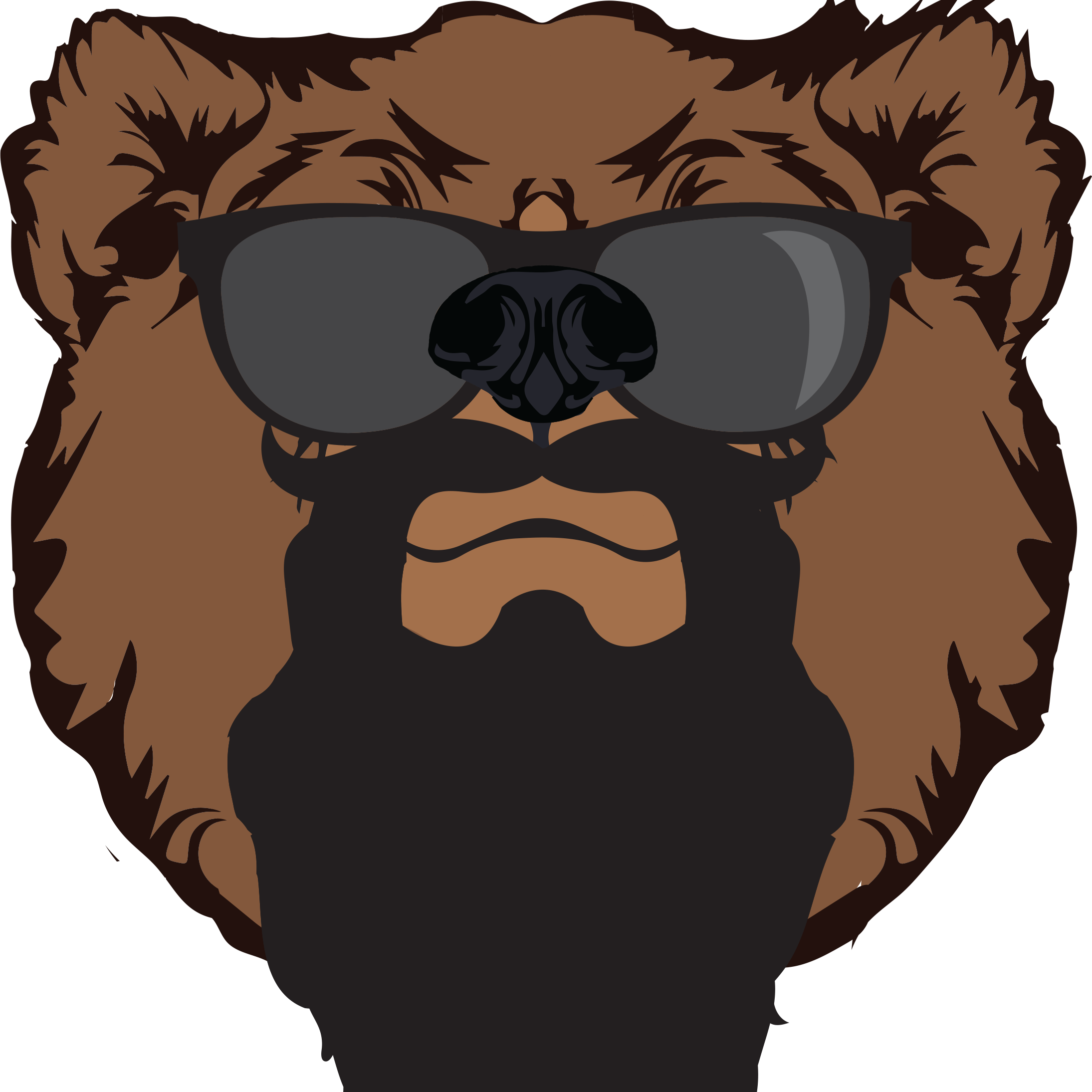 vector royalty free stock Grizzly Beard Co