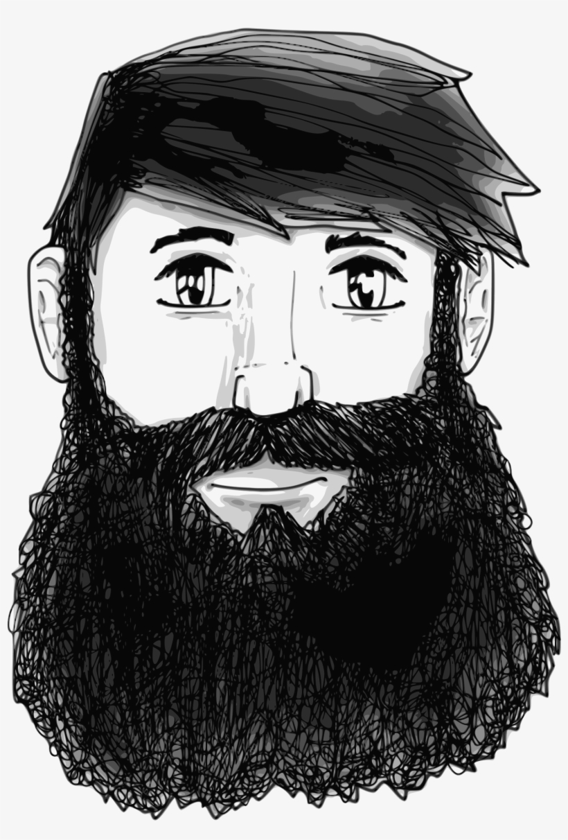 clipart library Beard clipart huge. Image free man with
