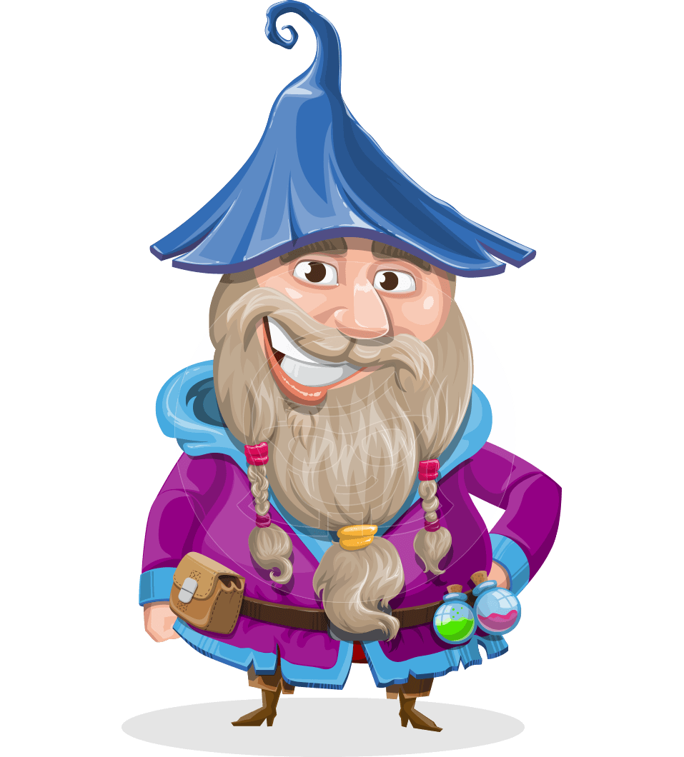 picture download Beard clipart illustration. Vector old male wizard