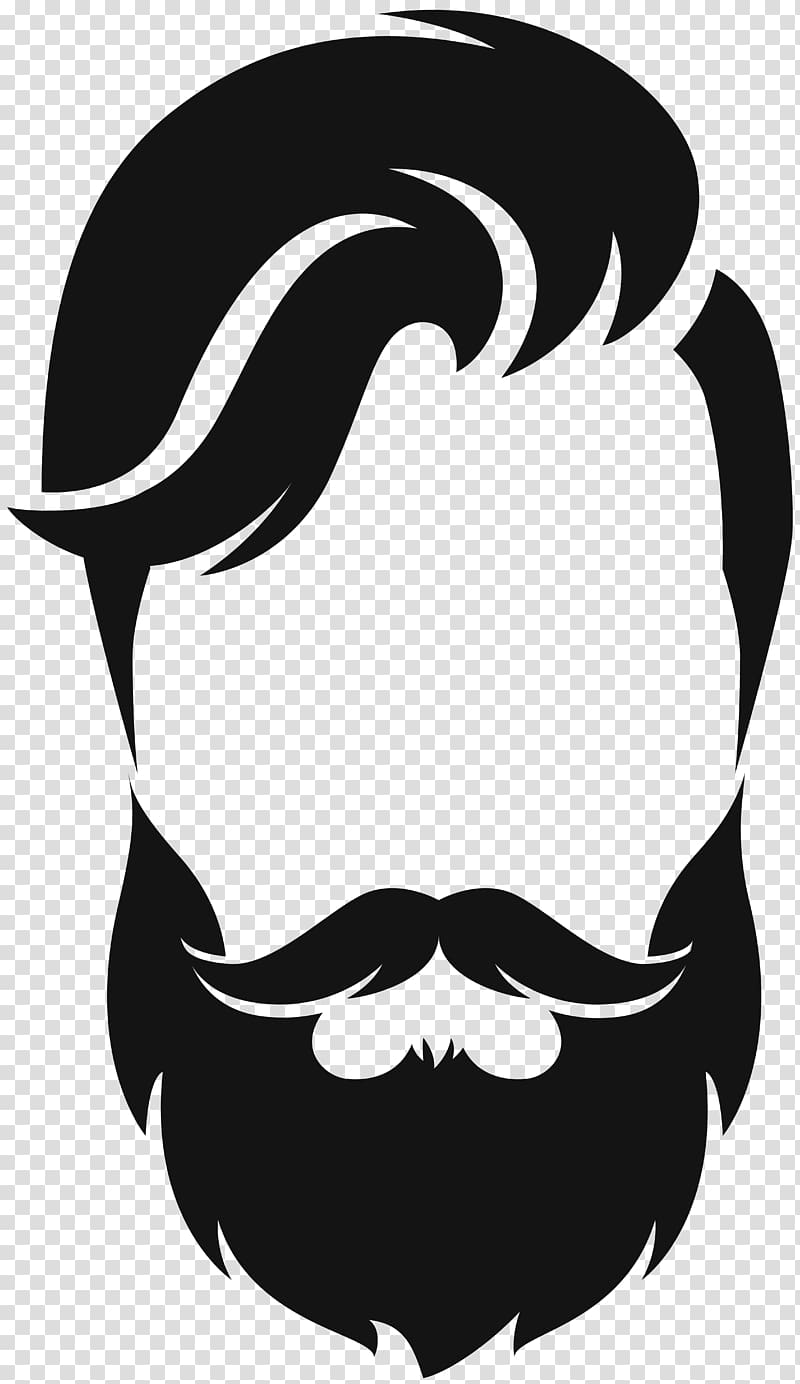 clip art freeuse library Beard clipart illustration. Silhouette moustache hair style