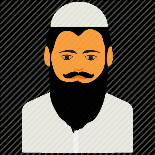 picture transparent library Muslim cartoon islam man. Beard clipart islamic