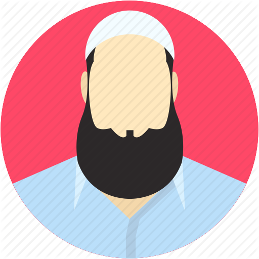 clip art freeuse library Pencil and in color. Beard clipart islamic