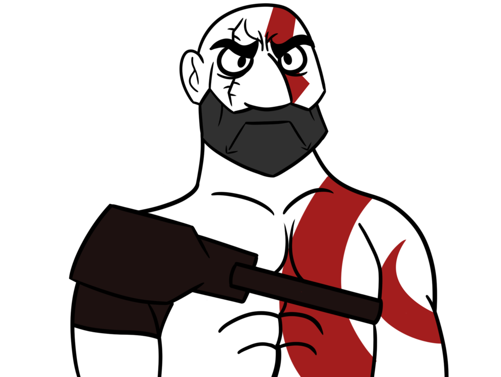 clip Beard clipart kratos. Grumpy face is back.