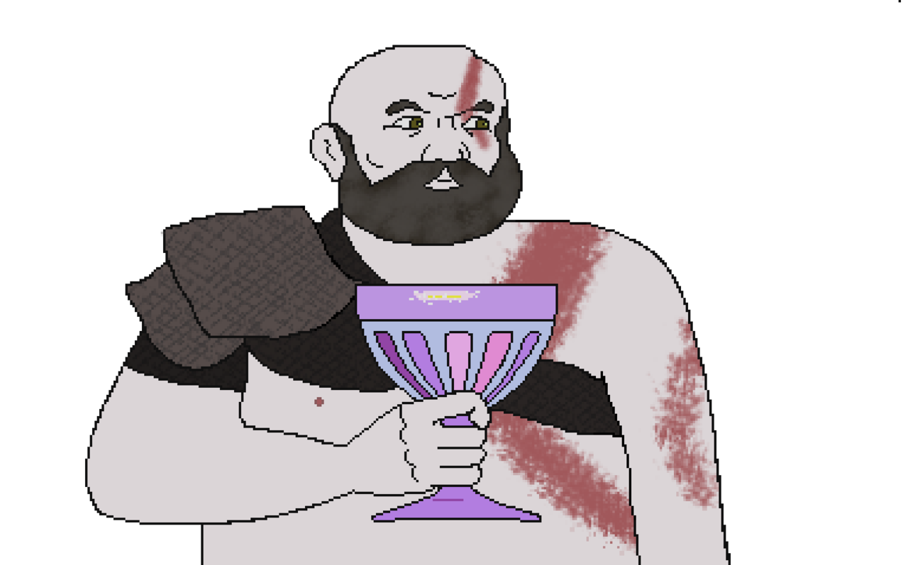 image library download V which of you. Beard clipart kratos.