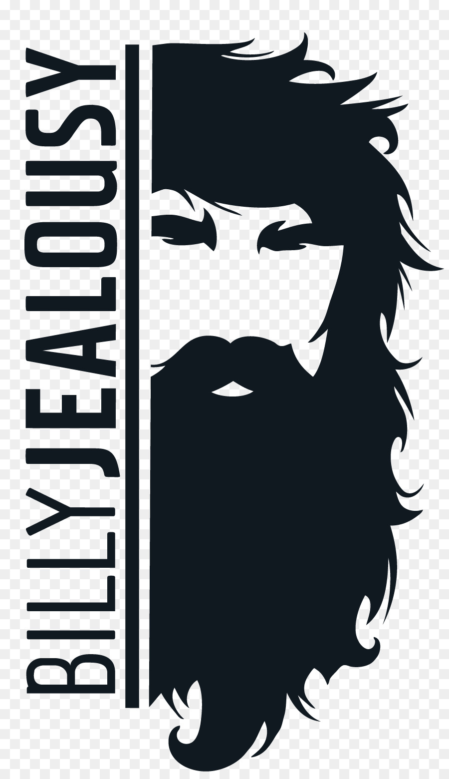 clip black and white stock Hair black font transparent. Beard clipart logo.