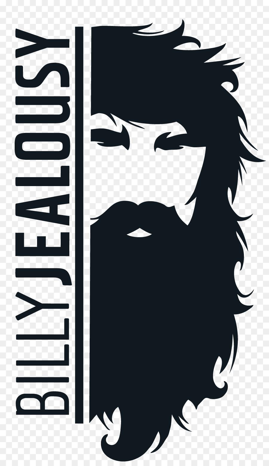 clip black and white stock Hair black font transparent. Beard clipart logo