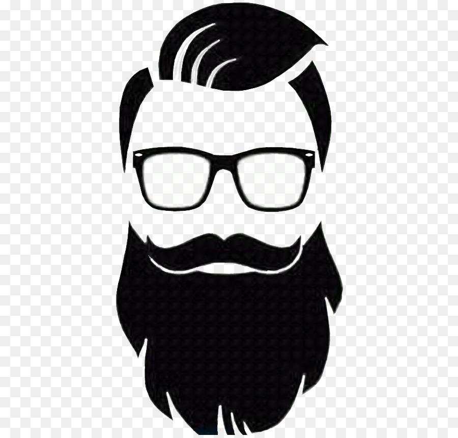 clip art free Moustache barber transparent . Beard clipart logo.