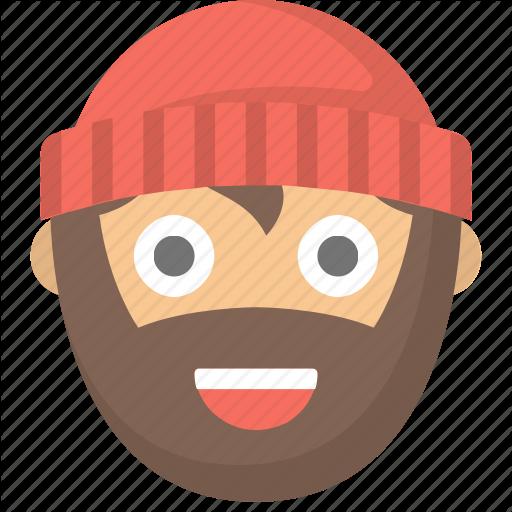 vector transparent stock Beard clipart lumberjack. People emoji by flaticons