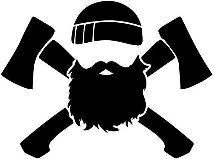 vector free stock Beard clipart lumberjack. Axe man vinyl decal