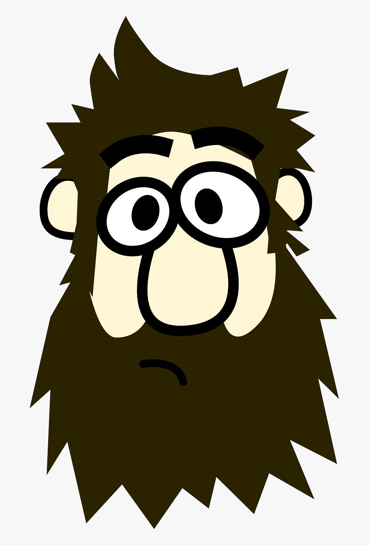 svg stock Beard clipart man. Hd image cartoon with