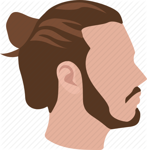 banner black and white Beard clipart man bun. Male hairstyles color by