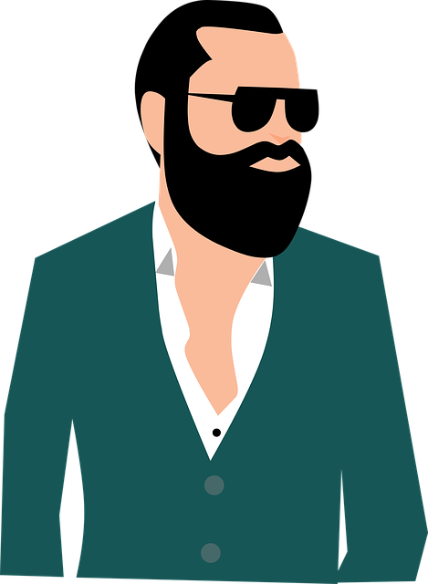 graphic black and white stock Beard clipart man model. Free photo boldness portrait.