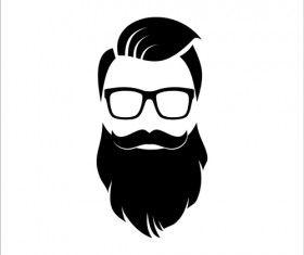 image transparent library Beard clipart man portrait. Long hipster head vector