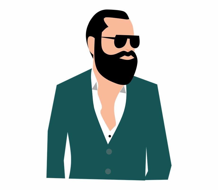 clip art download Adult people boldness business. Beard clipart man portrait