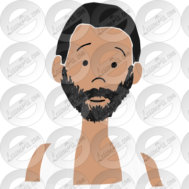 vector free download Stencil for classroom therapy. Beard clipart man portrait