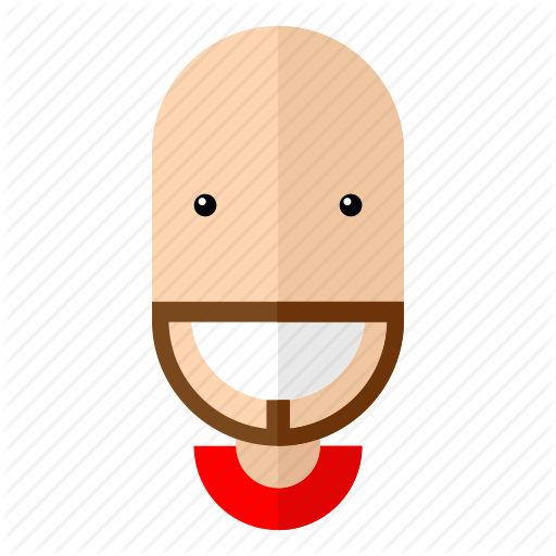 vector library Faces male by flat. Beard clipart man profile
