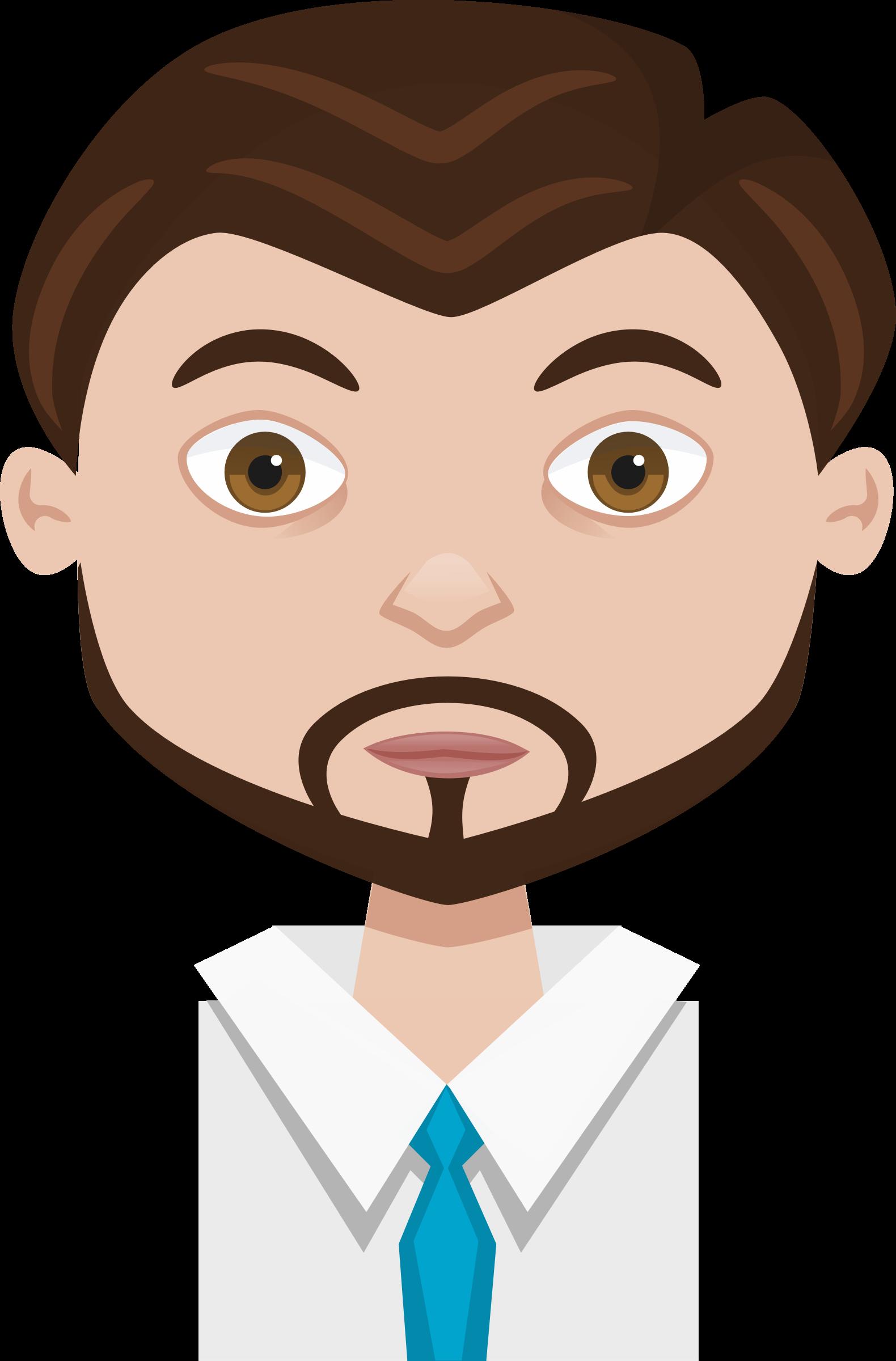 clipart freeuse Male cartoon avatar big. Beard clipart man profile