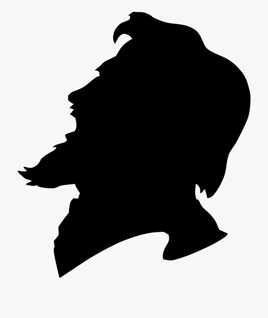 freeuse library Head old people face. Beard clipart man profile
