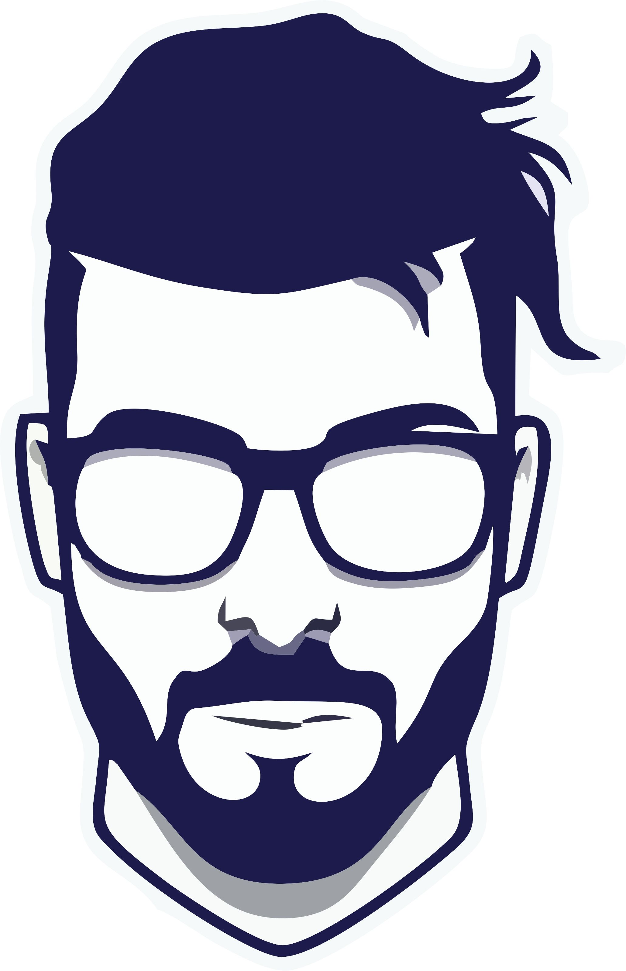 picture stock Beard clipart man profile. With glasses in art