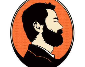 svg free library Beard clipart man profile. With silhouette clipartfox clipartix