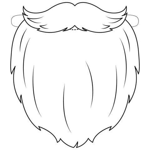 banner free library Beard clipart mask. Santa coloring page free