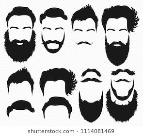 jpg library stock Beard clipart mens. Hair and shapes design