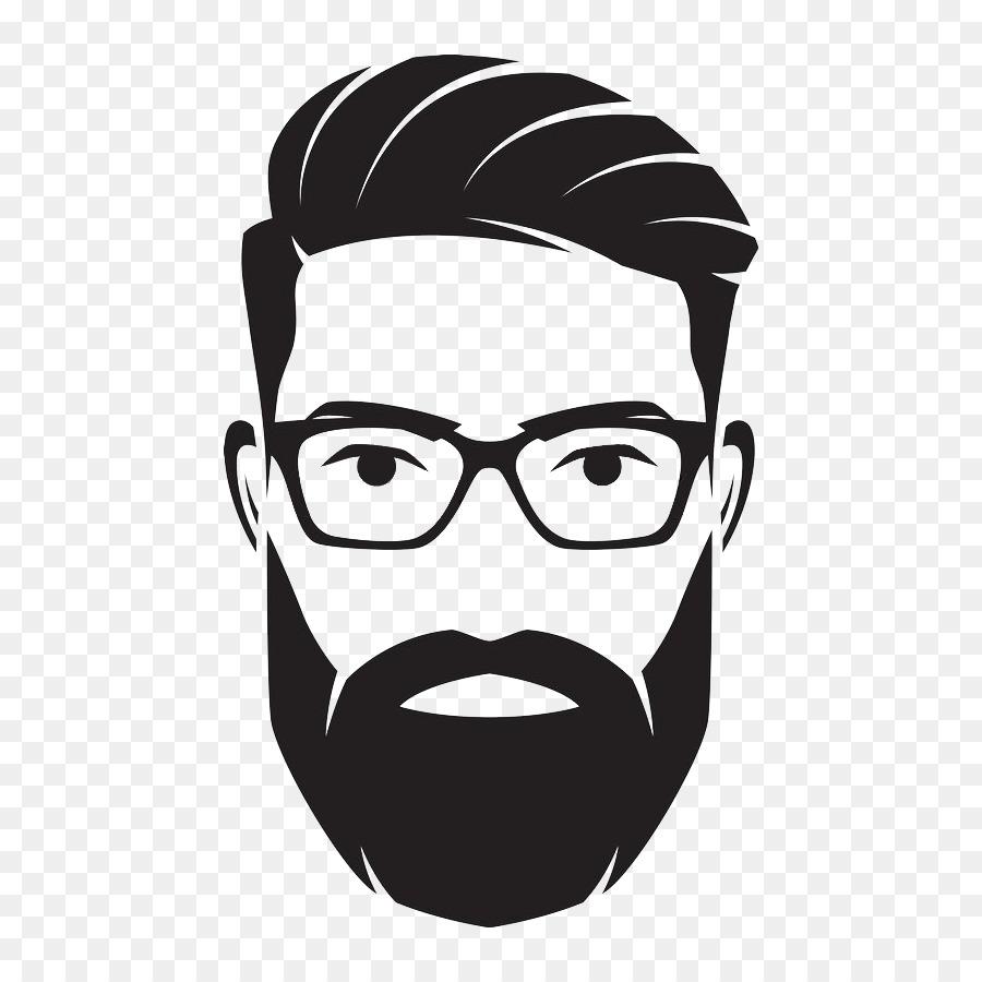 clip freeuse Glasses background tshirt man. Beard clipart mens