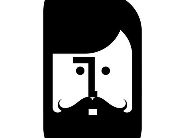 black and white Drawn x free clip. Beard clipart minimal