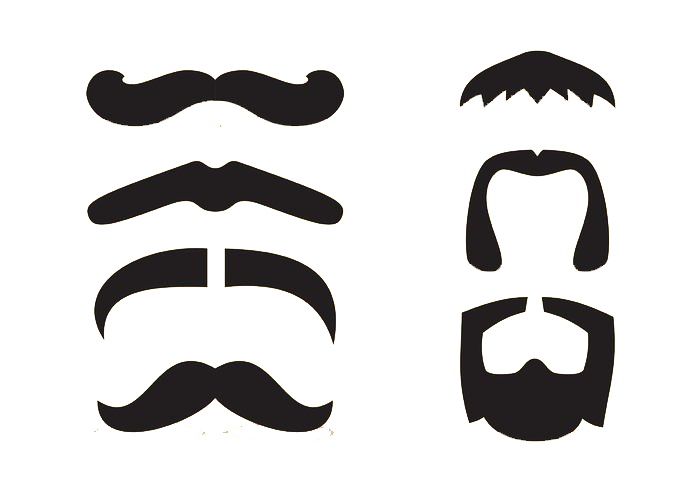 clipart black and white download Beard clipart mouth. Moustache clip art cartoon.