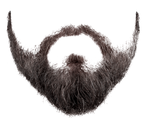 graphic royalty free download Beard clipart mustache. Six isolated stock photo