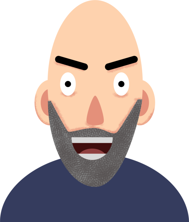 vector library Beard clipart neck. Head png royalty free