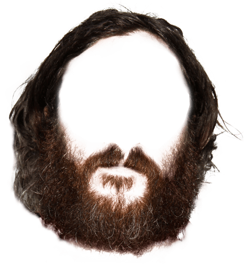 graphic transparent stock Hippie transparent png stickpng. Beard clipart neck