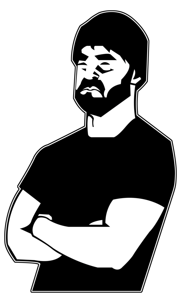 png library stock Guy walk of earth. Beard clipart neck.