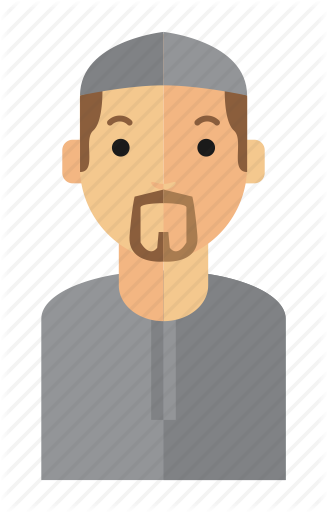 transparent library Beard clipart orange. Man avatar by fopifopi