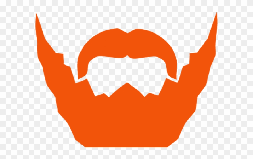 banner stock Png download . Beard clipart orange.