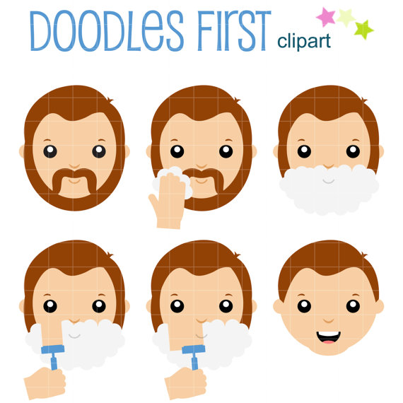 graphic free download Beard clipart paper. Steps on shaving your.