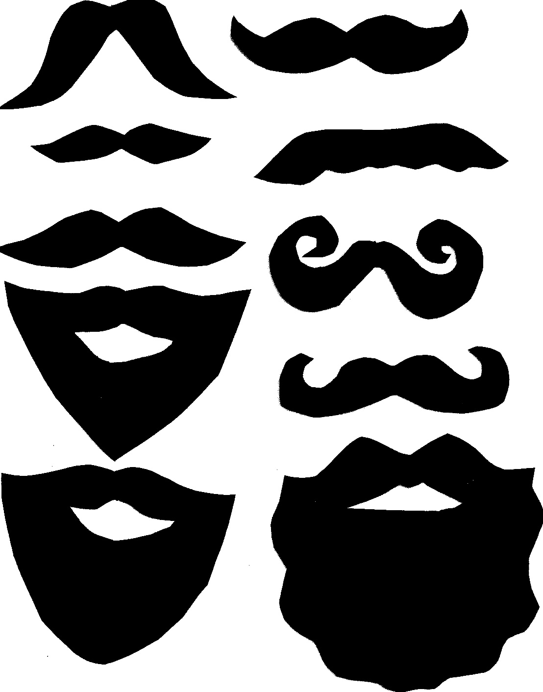 clipart transparent download Beard clipart paper. Diy photo booth moustache