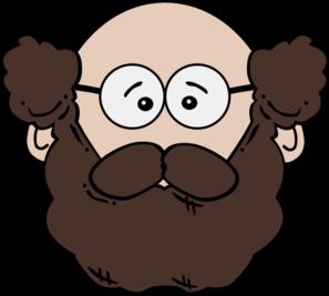 clip art transparent stock Balding man with mustache. Beard clipart paper